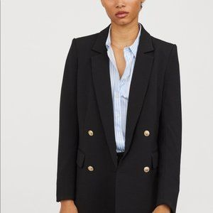 H&M Black Blazer with gold buttons
